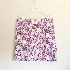 Eddie Bauer Cotton Floral Print Skirt Size 14